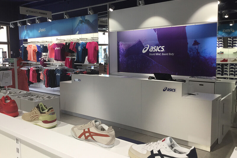 ASICS shopfitting France