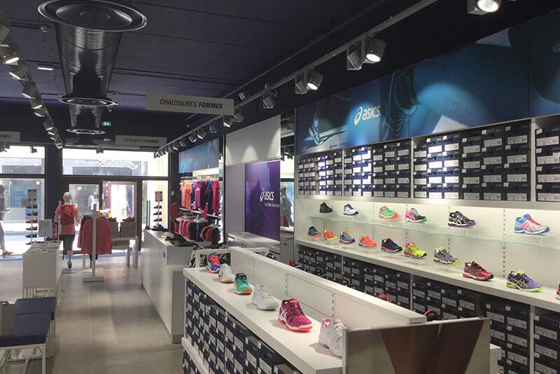 ASICS shopfitting France