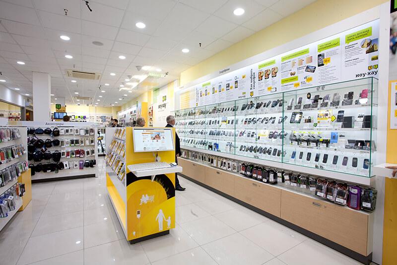 Beeline telecom services retail design