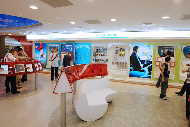 Turkcell. Дизайн флагманского магазина