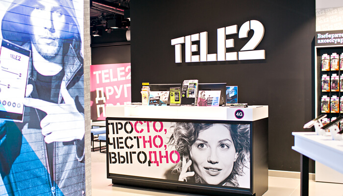 Tele 2 retail store design
